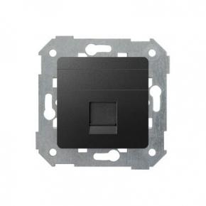 Pokrywa gniazd teleinformatycznych pojedyncza płaska grafit Keystone 82005-38 SIMON 82 KONTAKT-SIMON