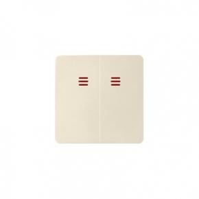 Klawisze - klawisz podwójny z oczkiem beżowy 82025-31 simon 82 kontakt-simon
