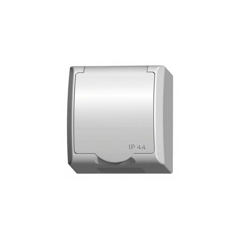 Gniazda-pojedyncze-natynkowe - gniazdo pojedyncze natynkowe z uziemieniem gnh-1hz/00/w fala ospel firmy OSPEL