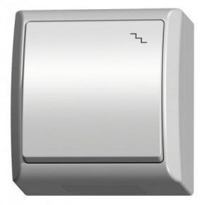 Włącznik schodowy natynkowy biały ŁNH-3H/00 FALA OSPEL