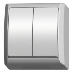 Włącznik światła natynkowy podwójny ŁNH-2H/00 FALA OSPEL