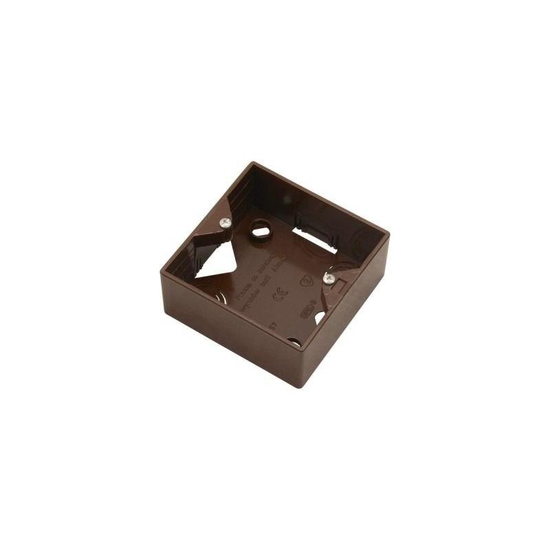 Puszki-natynkowe - puszka natynkowa do gniazd brązowa pnp-ag/24 akcent ospel firmy OSPEL