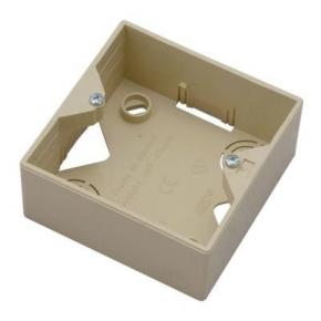 Puszki-natynkowe - puszka instalacyjna do gniazd beżowa pnp-ag/01 akcent ospel