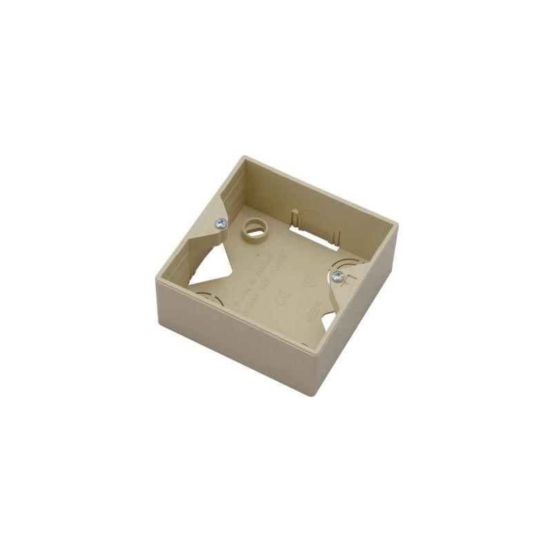 Puszki-natynkowe - puszka instalacyjna do gniazd beżowa pnp-ag/01 akcent ospel firmy OSPEL