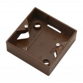 Puszki-natynkowe -  puszka elektryczna natynkowa pojedyncza do włączników brązowa pnp-a/24 akcent ospel