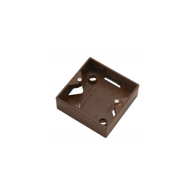 Puszki-natynkowe -  puszka elektryczna natynkowa pojedyncza do włączników brązowa pnp-a/24 akcent ospel  firmy OSPEL