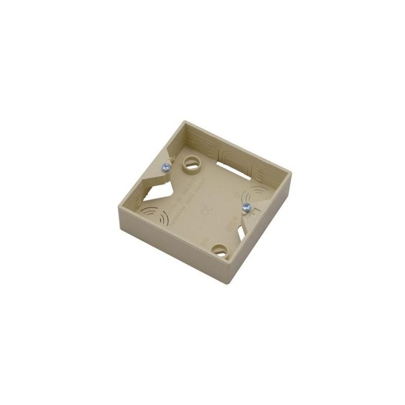 Puszki-natynkowe - puszka elektryczna natynkowa do włączników beżowa pnp-a/01 akcent ospel firmy OSPEL