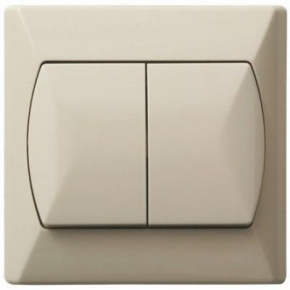 Wylaczniki-schodowe - wyłącznik schodowy+jednobiegunowy beżowy łp-9a/01 akcent ospel