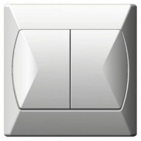 Wylaczniki-schodowe - włącznik schodowy+jednobiegunowy biały łp-9a/00 akcent ospel