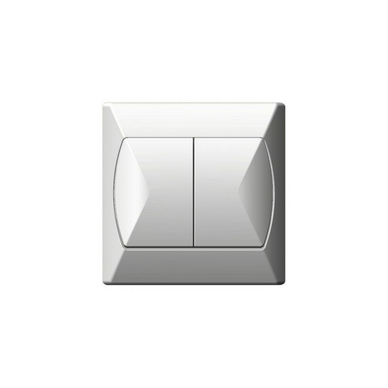 Wylaczniki-schodowe - włącznik schodowy+jednobiegunowy biały łp-9a/00 akcent ospel firmy OSPEL