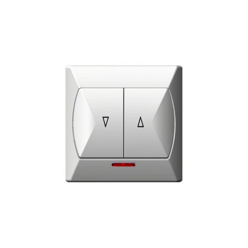 Wylaczniki-zaluzjowe - włącznik żaluzjowy z podświetleniem biały łp-7as/00 akcent ospel firmy OSPEL