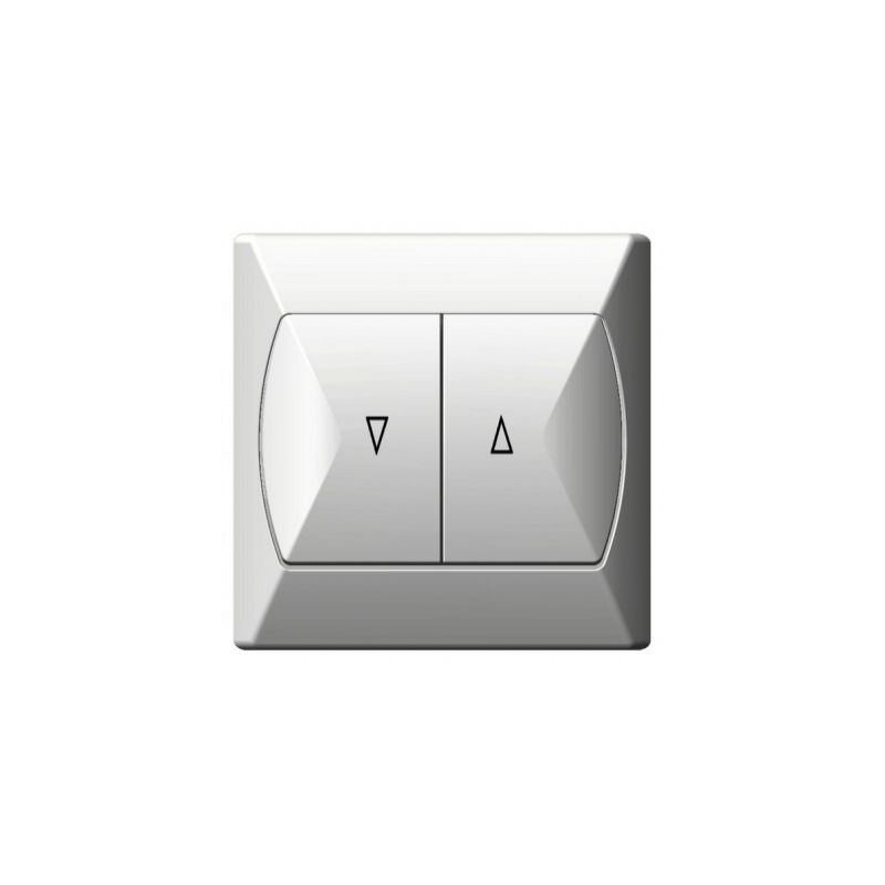 Wylaczniki-zaluzjowe - wyłącznik żaluzjowy biały łp-7a/00 akcent ospel firmy OSPEL