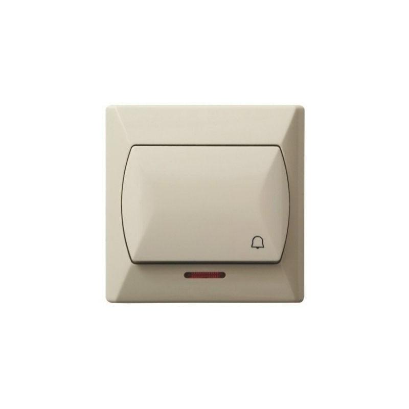 Wlaczniki-i-przyciski-dzwonkowe - włącznik zwierny dzwonek z podświetleniem beżowy łp-6as/01 akcent ospel firmy OSPEL