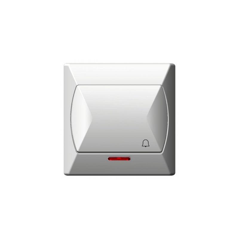 Wlaczniki-i-przyciski-dzwonkowe - przycisk dzwonkowy z podświetleniem biały łp-6as/00 akcent ospel firmy OSPEL