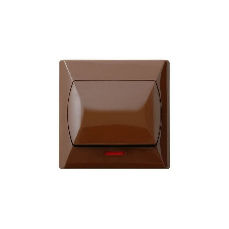 Wlaczniki-i-przyciski-dzwonkowe - włącznik zwierny dzwonek brązowy z podświetleniem łp-6as/24 akcent ospel firmy OSPEL