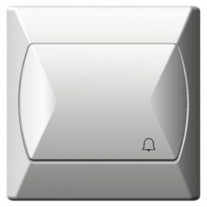Wlaczniki-i-przyciski-dzwonkowe - włącznik dzwonkowy zwierny biały łp-6a/00 akcent ospel