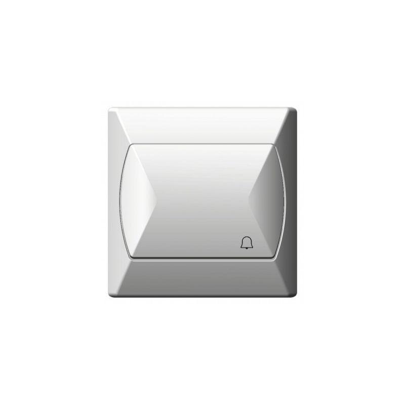Wlaczniki-i-przyciski-dzwonkowe - włącznik dzwonkowy zwierny biały łp-6a/00 akcent ospel firmy OSPEL