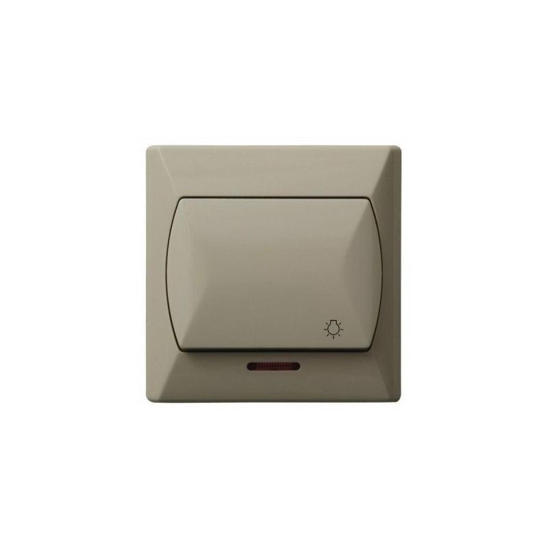 Wylaczniki-typu-swiatlo-zwierne - włącznik światło zwierne beżowy z podświetleniem łp-5as/01 akcent ospel firmy OSPEL
