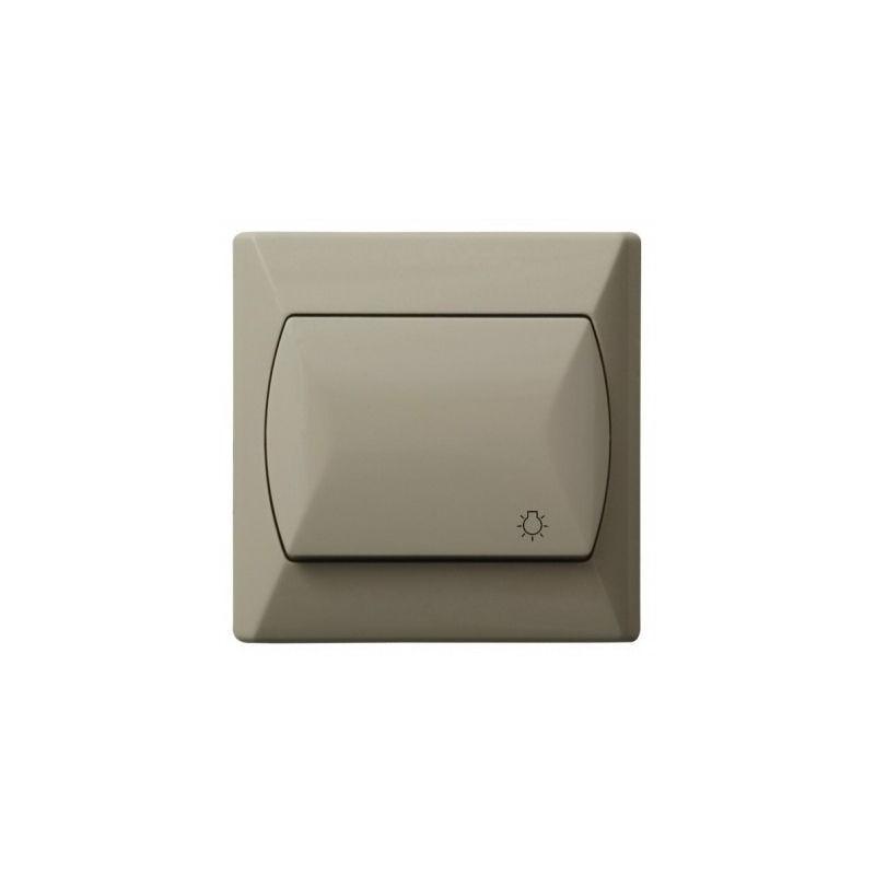 Wylaczniki-typu-swiatlo-zwierne - włącznik zwierny światło beżowy łp-5a/01 akcent ospel firmy OSPEL