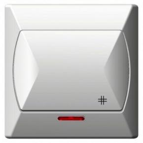 Wyłącznik krzyżowy z podświetleniem biały ŁP-4AS/00 AKCENT OSPEL