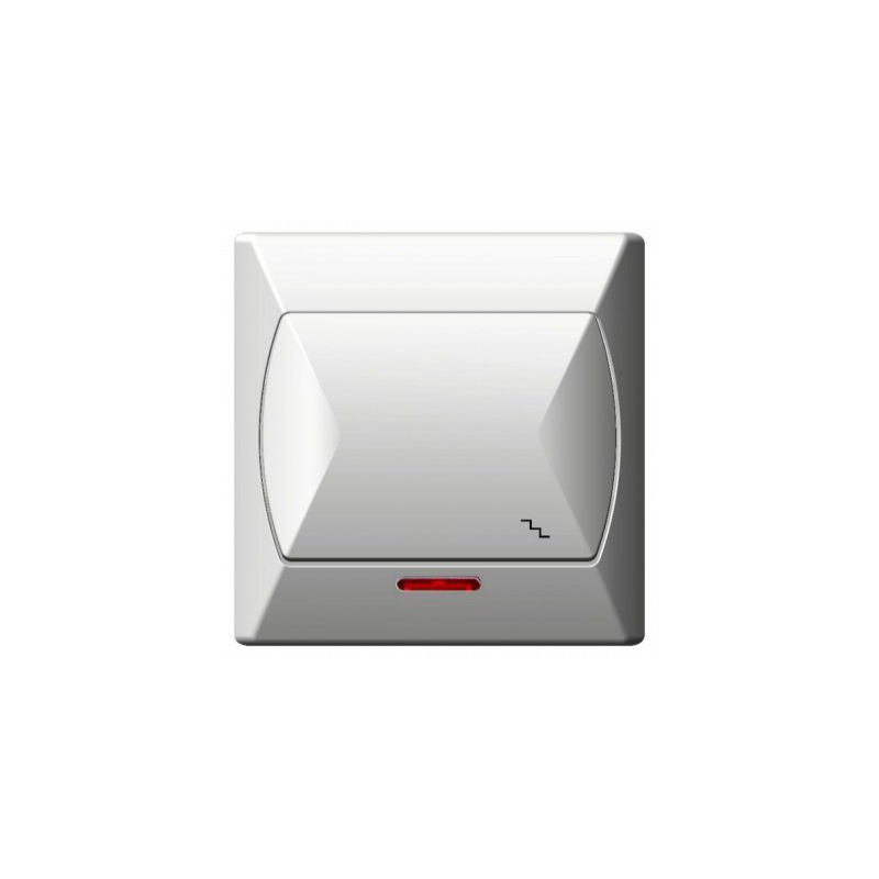 Wylaczniki-schodowe - wyłącznik schodowy z podświetleniem biały łp-3as/00 akcent ospel firmy OSPEL