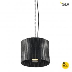 Lampy-ogrodowe-wiszace - wisząca lampa ogrodowa adegan manila okrągła antracyt max 24w spotline