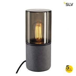 Lampy-ogrodowe-stojace - lampa na stół i biurko szara e27 23w ip44 lisenne-o 231360 spotline