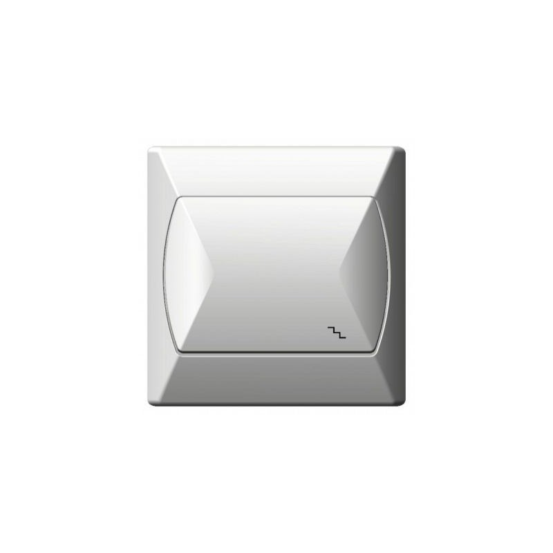 Wylaczniki-schodowe - wyłącznik schodowy biały łp-3a/00 akcent ospel firmy OSPEL