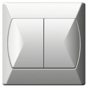 Wylaczniki-podwojne - włącznik podwójny biały łp-2a/00 akcent ospel
