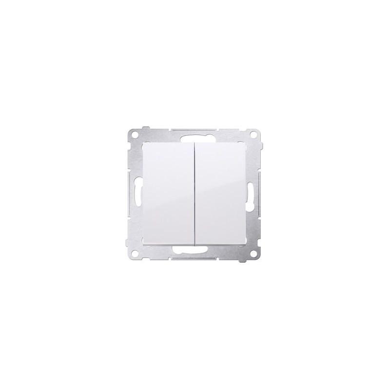 Wylaczniki-podwojne - włącznik świecznikowy biały do wersji ip44 dw5b.01/11 simon 54 kontakt-simon firmy Kontakt-Simon