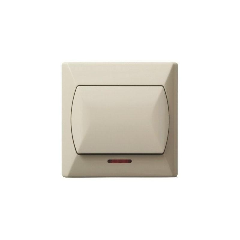 Wylaczniki-jednobiegunowe - włącznik jednobiegunowy z podświetleniem beżowy łp-1as/01 akcent ospel firmy OSPEL