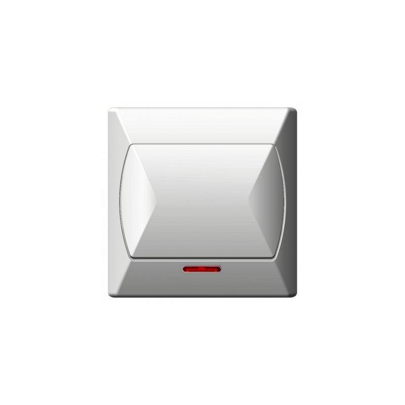 Wylaczniki-jednobiegunowe - włącznik jednobiegunowy z podświetleniem pomarańczowym biały łp-1as/00 akcent ospel firmy OSPEL