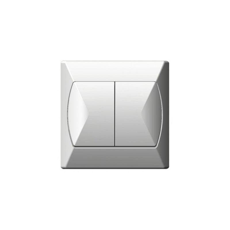 Wylaczniki-schodowe - włącznik schodowy podwójny biały łp-10a/00 akcent ospel firmy OSPEL