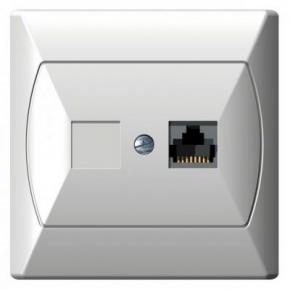 Gniazda-komputerowe - gniazdo komputerowe rj45 pojedyncze 5e białe gpk-1a/k/00 akcent ospel