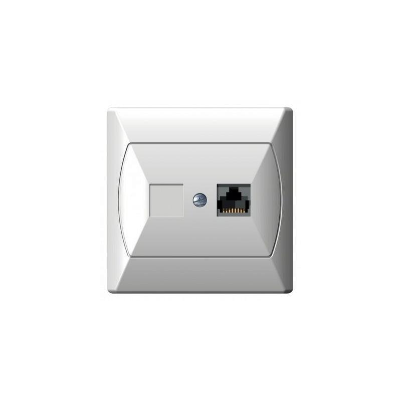 Gniazda-komputerowe - gniazdo komputerowe rj45 pojedyncze 5e białe gpk-1a/k/00 akcent ospel firmy OSPEL