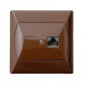 Gniazda-komputerowe - gniazdo komputerowe rj45 pojedyncze 5e brązowe gpk-1a/k/24 akcent ospel