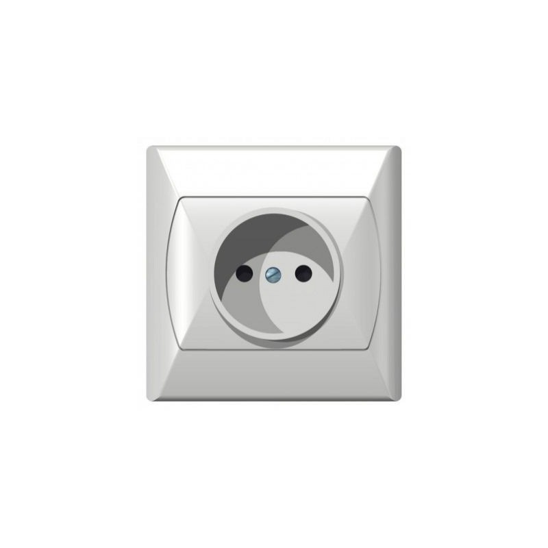 Gniazda-pojedyncze-podtynkowe - gniazdo elektryczne podtynkowe bez uziemienia białe gp-1a/00 akcent ospel firmy OSPEL