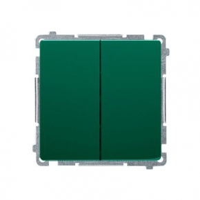 Włącznik podwójny świecznikowy zielony BMW5.01/33 Simon Basic Kontakt-Simon