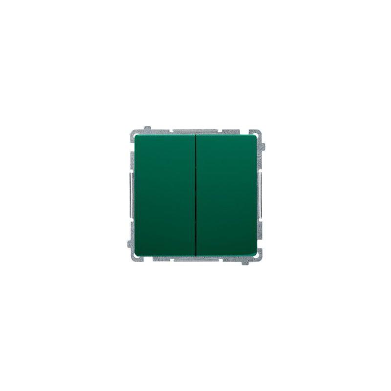Wylaczniki-podwojne - włącznik podwójny świecznikowy zielony bmw5.01/33 simon basic kontakt-simon firmy Kontakt-Simon