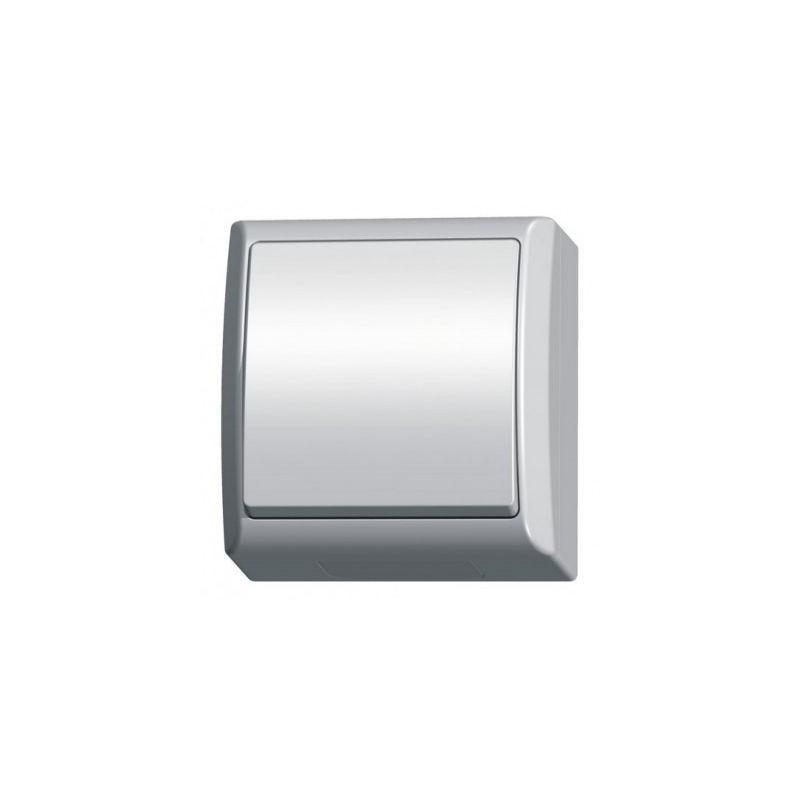 Wylaczniki-jednobiegunowe - włącznik światła natynkowy biały łnh-1h/00 ip44 fala ospel firmy OSPEL
