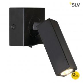 Kinkiety - lampa ścienna stix czarna 1x3w led 3000k spotline