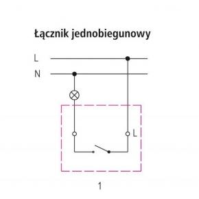 Wylaczniki-jednobiegunowe - włącznik światła natynkowy biały łnh-1h/00 ip44 fala ospel