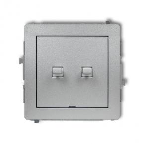 Podwójny włącznik w stylu amerykańskim srebrny metalik 7DWPUS-2 DECO KARLIK