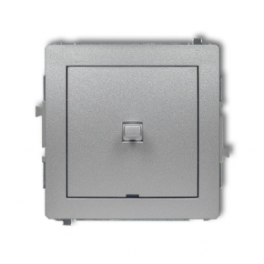 Srebrny metaliczny włącznik jednobiegunowy w stylu amerykańskim 7DWPUS-1 DECO KARLIK