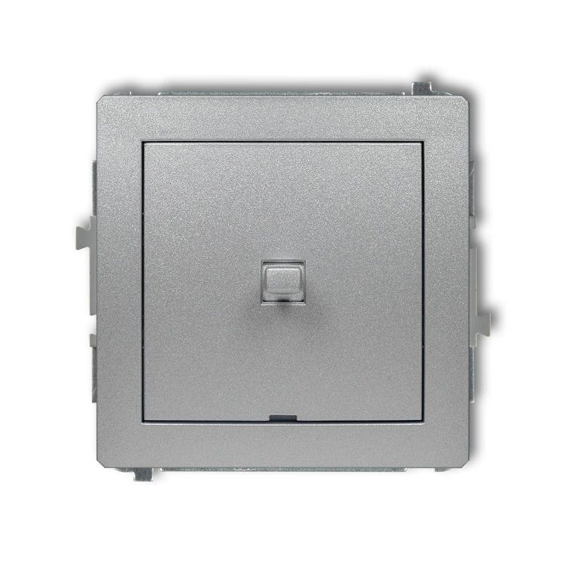 Wylaczniki-amerykanskie - srebrny metaliczny włącznik jednobiegunowy w stylu amerykańskim 7dwpus-1 deco karlik firmy Karlik