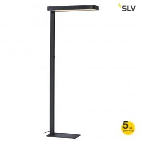 Lampy-stojace - lampa stojąca czarna do biura led worklight dali sensor 3000k antracyt spotline