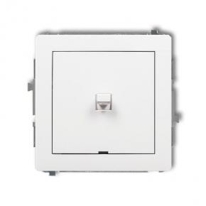 Pojedynczy włącznik biały w stylu amerykańskim DWPUS-1 DECO KARLIK