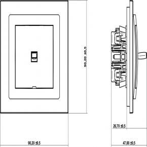 Wylaczniki-amerykanskie - pojedynczy włącznik biały w stylu amerykańskim dwpus-1 deco karlik
