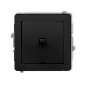Czarny matowy włącznik jednobiegunowy w stylu amerykańskim 12DWPUS-1 DECO KARLIK