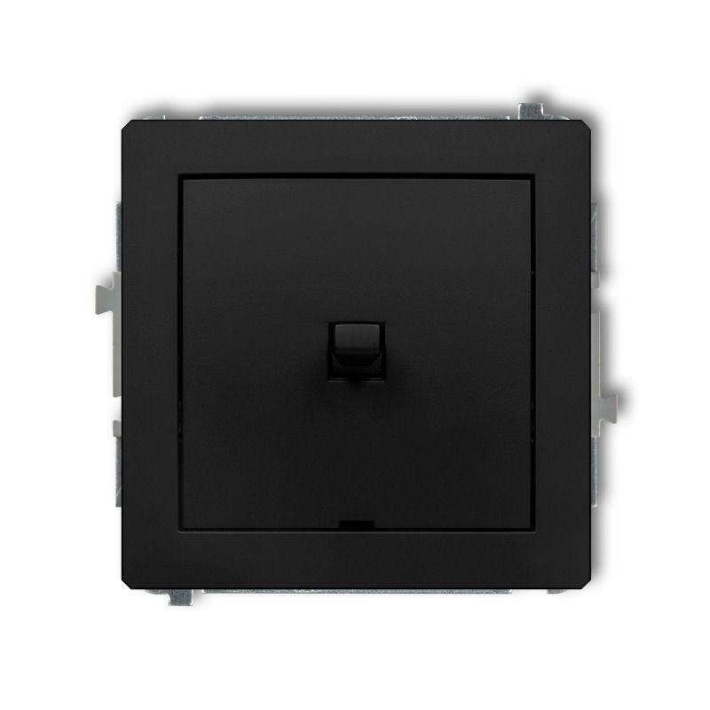 Wylaczniki-amerykanskie - czarny matowy włącznik jednobiegunowy w stylu amerykańskim 12dwpus-1 deco karlik firmy Karlik